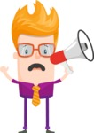 Funny Vector Cartoon Graphic Maker - Eccentric man with megaphone