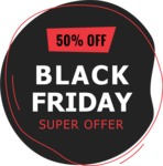 Sale Badges Vector Collection - Flat Black Friday Sale Sign
