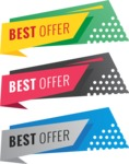 Sale Badges Vector Collection - Set of Best Offer Badges