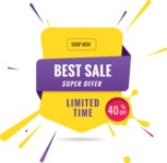 Sale Badges Vector Collection - Limited Time Offer Badge Template