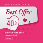 Sale Badges Vector Collection - Valentine's Day Sale Vector Banner