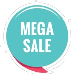 Sale Badges Vector Collection - Mega Sale Vector Banner
