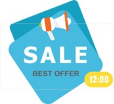 Sale Badges Vector Collection - Vector Sale Label With Starts Time
