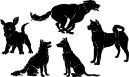 Vector Silhouettes Mega Bundle - Dog Breeds Vector Silhouettes