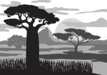 Vector Silhouettes Mega Bundle - Vector African Landscape Silhouette