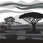 Vector Silhouettes Mega Bundle - Transparent Savannah Vector Silhouette