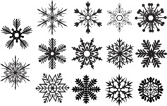 Vector Silhouettes Mega Bundle - Vector Snowflakes Silhouettes Set