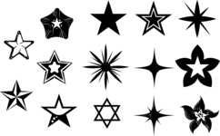 Vector Silhouettes Mega Bundle - Vector Star Silhouettes Set