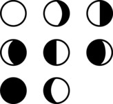 Vector Silhouettes Mega Bundle - Vector Moon Phases Silhouette Icons