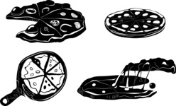 Vector Silhouettes Mega Bundle - Vector Pizza Silhouettes Set