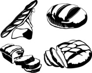 Vector Silhouettes Mega Bundle - Vector Bread Silhouettes Set