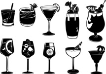 Vector Silhouettes Mega Bundle - Vector Cocktail Silhouettes Set