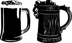 Vector Silhouettes Mega Bundle - Vector Beer Mug Silhouettes Set