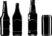 Vector Silhouettes Mega Bundle - Vector Beer Bottle Silhouettes Set