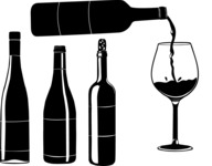 Vector Silhouettes Mega Bundle - Vector Wine Bottle Silhouettes Set