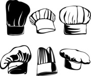 Vector Silhouettes Mega Bundle - Vector Chef Hat Silhouettes Set