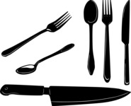 Vector Silhouettes Mega Bundle -  Vector Forks Spoons and Knives Silhouettes Set