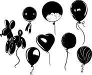 Vector Silhouettes Mega Bundle - Vector Party Balloon Silhouettes Set