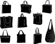 Vector Silhouettes Mega Bundle - Vector Shopping Bags Silhouettes Set