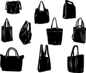 Vector Silhouettes Mega Bundle - Vector Purse Silhouettes Set