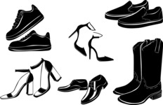 Vector Silhouettes Mega Bundle - Vector Shoes Silhouettes Set