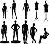 Vector Silhouettes Mega Bundle - Vector Mannequin Silhouettes Set
