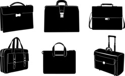 Vector Silhouettes Mega Bundle - Vector Briefcase Silhouettes Set