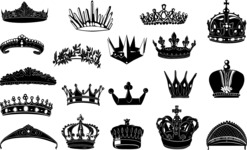 Vector Silhouettes Mega Bundle - Vector Crown Silhouettes Set