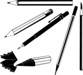 Vector Silhouettes Mega Bundle - Vector Pencil Silhouettes Set