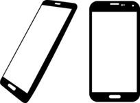Vector Silhouettes Mega Bundle - Vector Smartphone Silhouettes Set