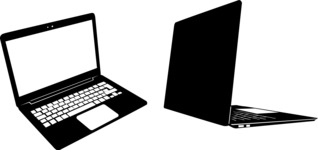 Vector Silhouettes Mega Bundle - Vector Laptop Silhouettes Set
