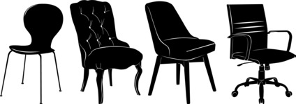 Vector Silhouettes Mega Bundle - Vector Chair Silhouettes Set