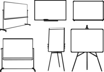 Vector Silhouettes Mega Bundle - Vector Presentation Board Silhouettes Set