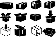 Vector Silhouettes Mega Bundle - Vector Delivery Boxes Silhouettes Set