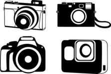 Vector Silhouettes Mega Bundle - Vector Camera Silhouettes Set