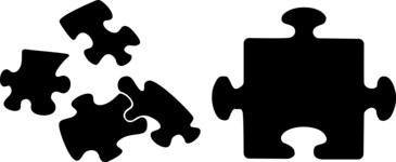 Vector Silhouettes Mega Bundle - Vector Puzzle Silhouettes Set