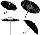 Vector Silhouettes Mega Bundle - Vector Umbrella Silhouettes Set