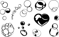 Vector Silhouettes Mega Bundle - Vector Bubble Silhouettes Set