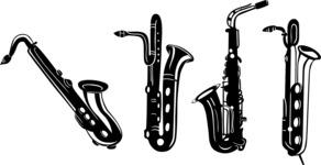 Vector Silhouettes Mega Bundle - Vector Saxophone Silhouettes Set