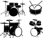 Vector Silhouettes Mega Bundle - Vector Drums Silhouettes Set