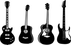 Vector Silhouettes Mega Bundle - Vector Guitar Silhouettes Set