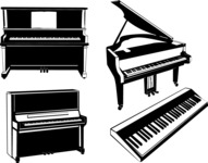 Vector Silhouettes Mega Bundle - Vector Piano Silhouettes Set