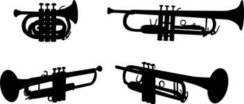 Vector Silhouettes Mega Bundle - Vector Trumpet Silhouettes Set