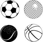 Vector Silhouettes Mega Bundle - Vector Sport Balls Silhouettes Set