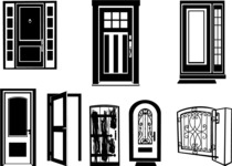 Vector Silhouettes Mega Bundle - Vector Door Silhouettes Set