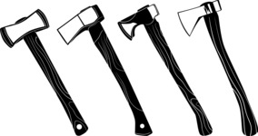 Vector Silhouettes Mega Bundle - Vector Axe Silhouettes Set