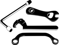 Vector Silhouettes Mega Bundle - Vector Wrench Silhouettes Set