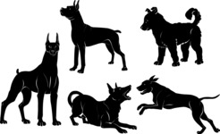 Vector Silhouettes Mega Bundle - Dog Vector Silhouettes Set