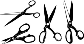 Vector Silhouettes Mega Bundle - Vector Scissors Silhouettes Set