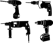 Vector Silhouettes Mega Bundle - Vector Drill Silhouettes Set